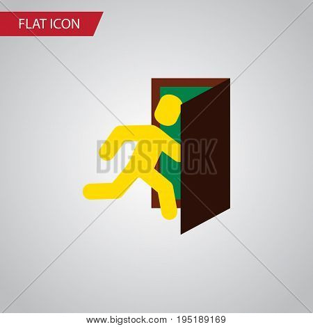 Isolated Evacuation Flat Icon. Open Door Vector Element Can Be Used For Evacuation, Exit, Door Design Concept.