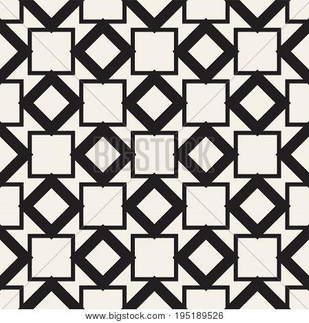 Seamless tracery pattern. Repeated stylized lattice. Symmetric geometric abstract wallpaper. Trellis ethnic motif. Vector illustration