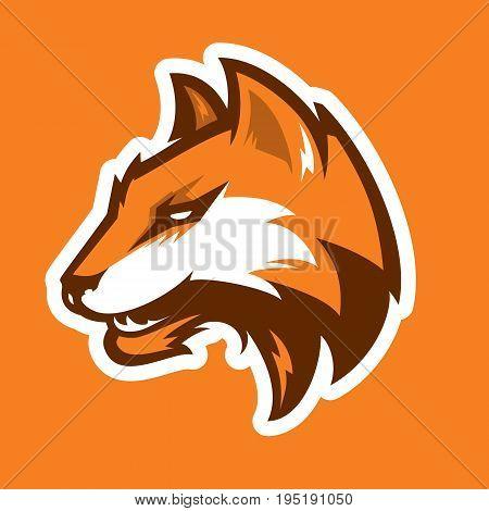 Fox head sport mascot  for college team