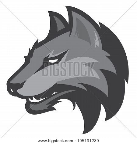 Wolf head sport mascot  for college sport team