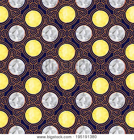Vintage seamless colorful pattern for wallpaper background mobile and web aplications in vector