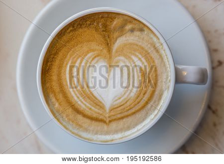 A cup of cappuccino. Macro. Shallow DOF