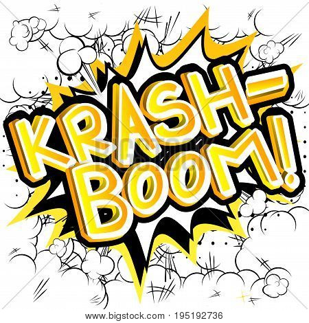 Krash-Boom! - illustrated comic book style expression.