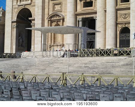19.06.2017 Vatican city Roma Italy: View on Saint Peter`s square.