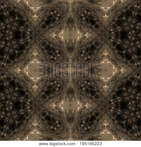 Symmetry dark black and beige astral space galaxy mysterious image pattern
