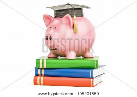 Savings for education concept 3D rendering isolated on white background