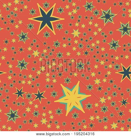 Vintage Red Seamless Retro Wallpaper Design Print