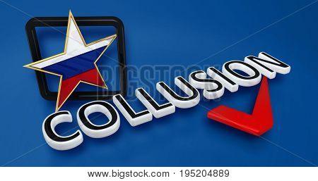 Collusion 3D Illustration