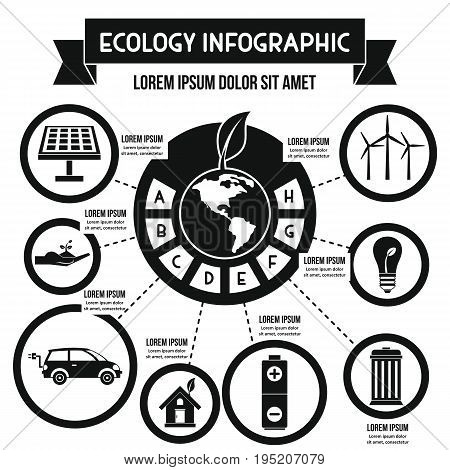 Ecology infographic banner concept. Simple illustration of ecology infographic vector poster concept for web