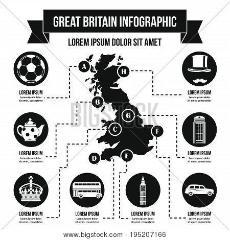 Great Britain infographic banner concept. Simple illustration of Great Britain infographic vector poster concept for web
