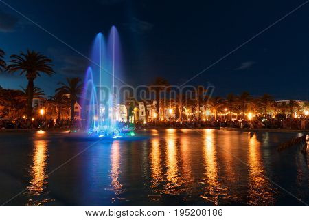 Colorful Water Fountain