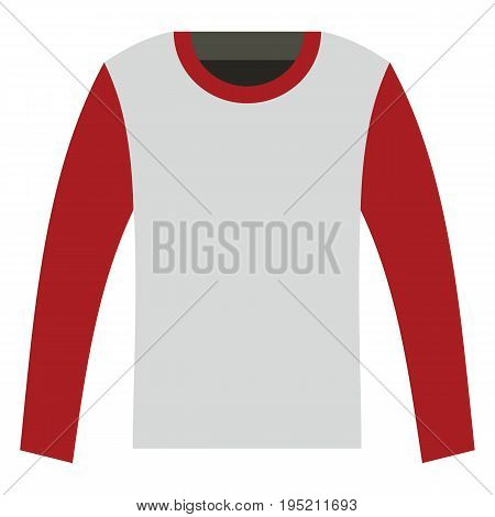 Longsleeve fashion clothes for modern man. Flat icon for web vector illustration