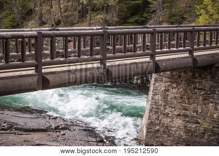 Wooden Bridge Over Whitewater River
