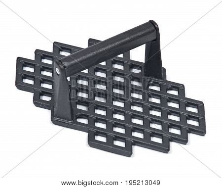 Cast iron grill marks press isolated on white background