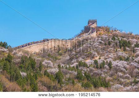 Badaling Great Wall Of Beijing In China