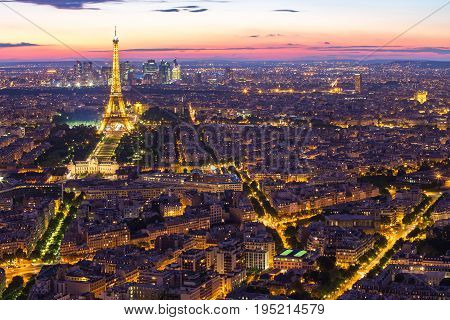 Cityscape Of Paris City Skyline In Paris, France