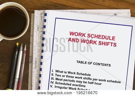 Work Schedule And Shifting