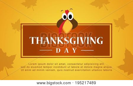 Thanksgiving day autumn background stock vector illustration