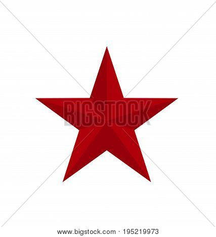 red classic star icon with verges. vector illustration