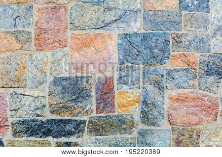 stone wall texture background natural color closeup