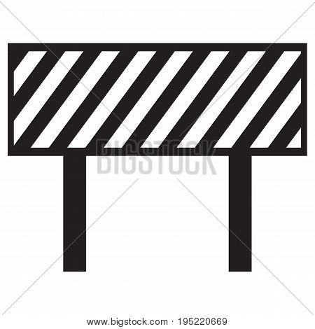 Barrier icon hurdle boundary turnstile roadblock business poster