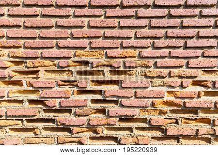 weathered texture of old brick walls closeup