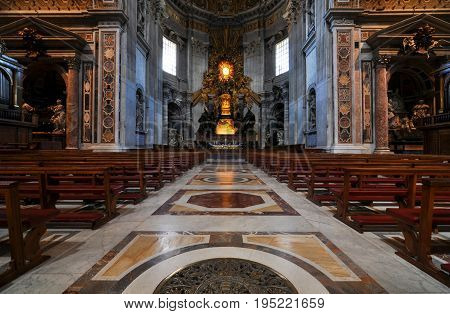 ROME, ITALY - May 17, 2011 - Apse at Saint Peter's Basilica with the Chair of Saint Peter in the center