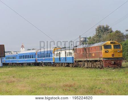 Passenger Car, Blue Train For Long Distance Sleeper Trains