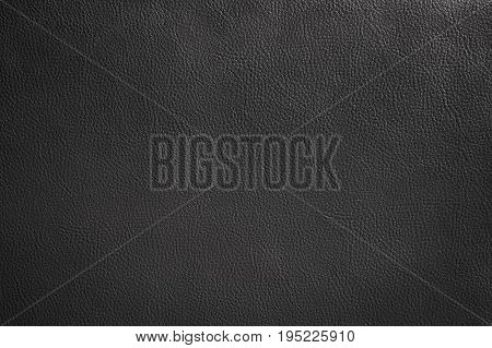Luxury black leather texture background Close up detail sofa leather and texture