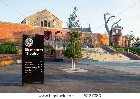 Bendigo, Australia - April 15, 2017: the Ulumbarra Theatre is located in the former central Bendigo jail.