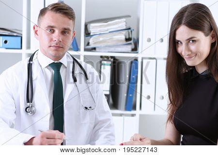 Handsome Male Doctor Explain Prescription