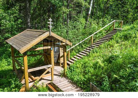 The Place For Bathing In The Holy Pokrovsky Source.