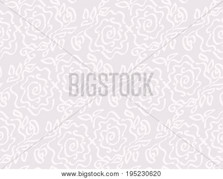 laze style tender rose floral abstract vector illustration of seamless pattern
