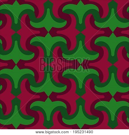 Attractive pattern design for all kinds of surfaces. Red lily and leaves.