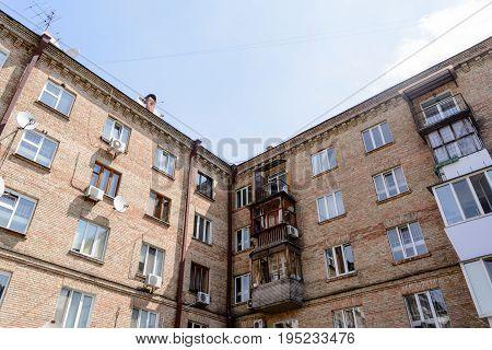 old multi-storey house in centre of kiev
