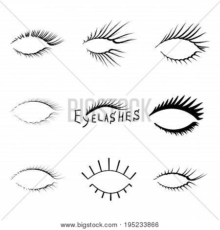 A set of realistic eyelashes for beginning artists