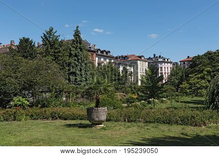 The Bethmannpark in frankfurt am Main, hesse, germany