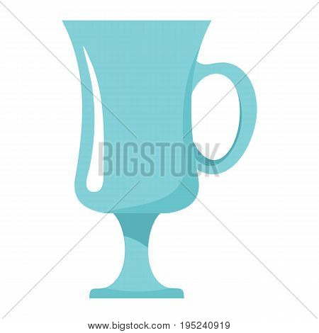 Wineglass dish cartoon icon. Kitchen tool, cookware and kitchenware vector illustration for you kitchen design