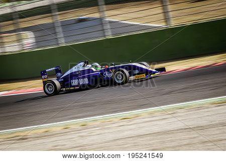 Vallelunga, Rome, Italy. June 24 2017. Italian Formula 4 Abarth Championship, Tom Beckhauser Driver