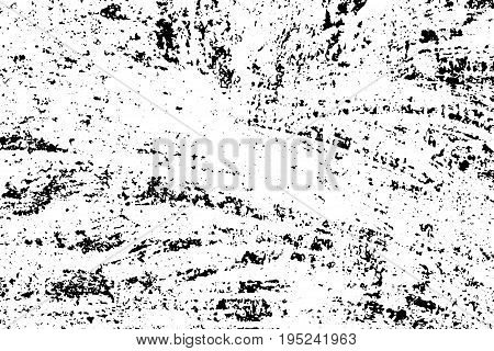Weathered concrete wall. Rustic stone vector texture. Black stains and noise for distressed effect. Old worn vintage overlay. White paint brushed stroke. Monochrome weathered concrete wall background