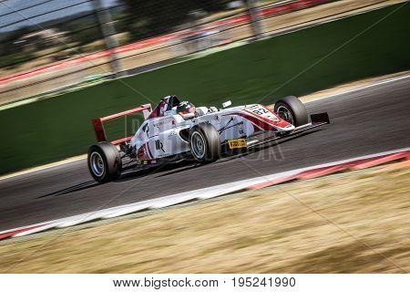 Vallelunga, Rome, Italy. June 24 2017. Italian Formula 4 Abarth Championship, Davide Venditti Driver