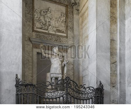 Basilica di San Giovanni in Laterano (St. John Lateran basilica) in Rome. The official ecclesiastical seat of the pope. Rome Italy June 2017