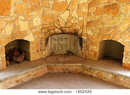 Triple Fireplace