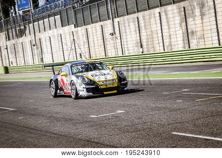 Vallelunga, Rome, Italy. June 24 2017. Italian Porsche Carrera Cup Lino Curti Racing Driver
