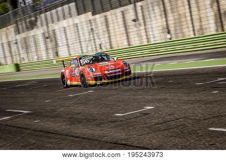 Vallelunga, Rome, Italy. June 24 2017. Italian Porsche Carrera Cup Niccolò Mercatali Racing Driver