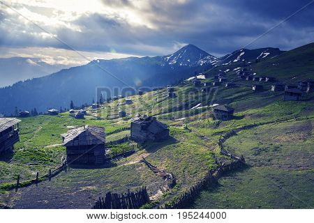 Epic Mountain Landscape - Old Abandoned Mountain Village