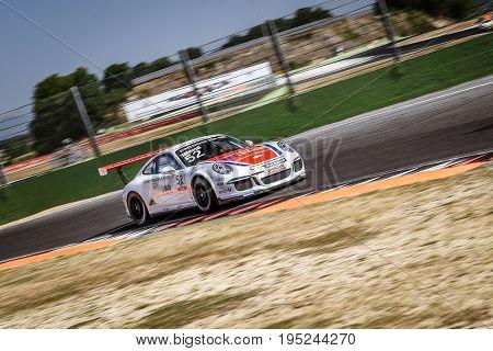 Vallelunga, Rome, Italy. June 24 2017. Italian Porsche Carrera Cup Roberto Minetti Racing Driver