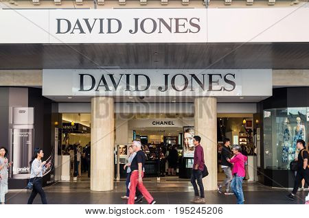Melbourne, Australia - February 23, 2017: David Jones is an Australian premium department store chain. This is the flagship Bourke Street store.