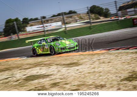 Vallelunga, Rome, Italy. June 24 2017. Italian Porsche Carrera Cup Alex De Giacomi Racing Driver