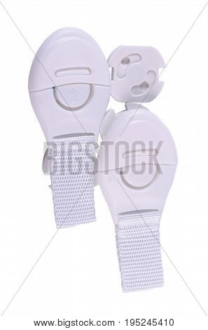 Babylocks and Outlet Covers isolated on white background.